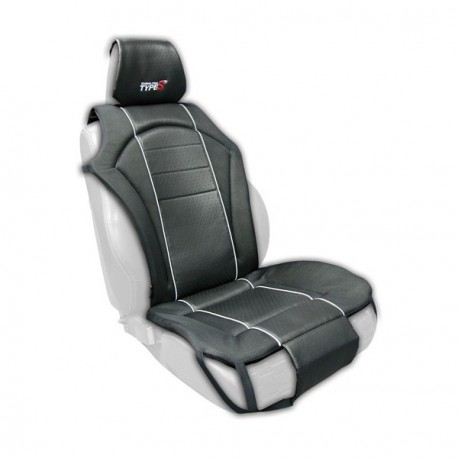 Car Seat Cover Multi Fit Cushioned - Front Single - Black