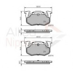 Brake pad-Allied Nippon